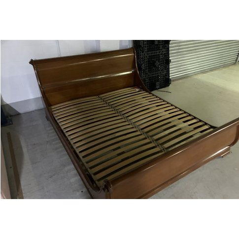 Manoir Bed With Slatted Base Special Size 180 X 215c...