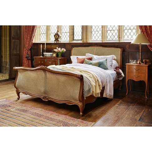 Louis Xv Caned Bed - Emperor 202 X 200cm - 6ft 6inches