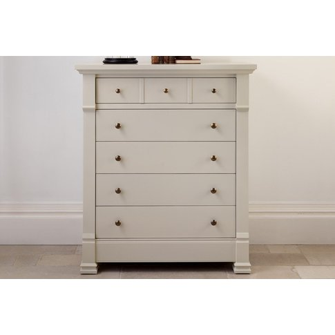 Manoir Painted Chest Of Drawers - Brass Handles