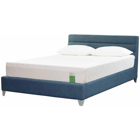 Tempur Genoa Bed - King 5ft - Tempur Twill Blue Grey