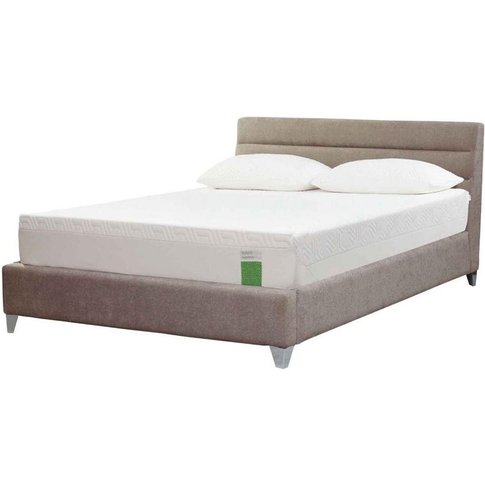 Tempur Genoa Bed - Double 4ft 6 - Tempur Twill Stone