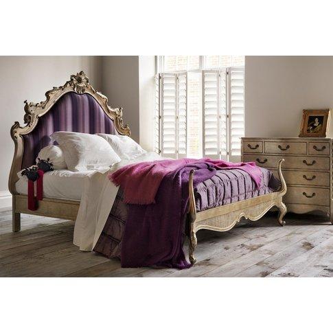 Versailles Leafed Upholstered Bed - Super King 180 X...