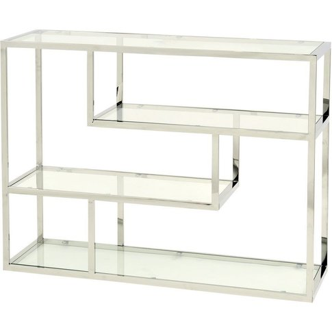 Shefford Stainless Steel and Glass Shelving Unit
