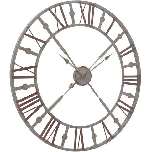 Docklands Antique Grey Skeleton Wall Clock