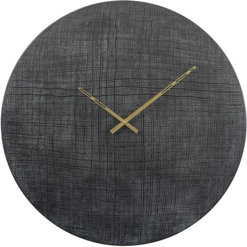 Gilmore Textured Black Metal Wall Clock