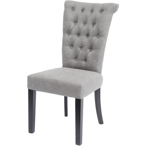 Somersby Light Grey Buttonback Dining Chair