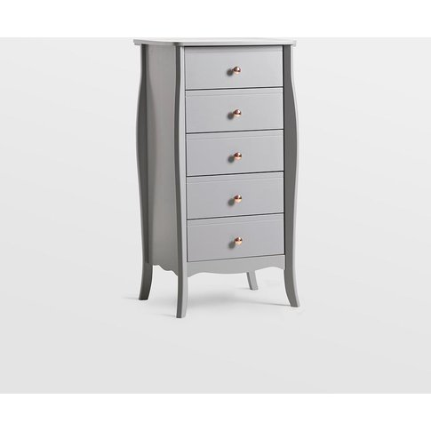 Grey Narrow Chest Of Drawers