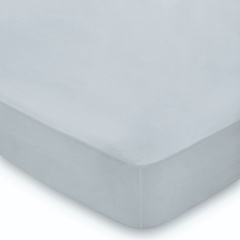 Peacock Blue Hotel 300 Thread Count Super Kingsize Fitted Sheet, Blue Mist