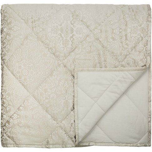 Bedeck Dita Quilted Kingsize Throw, Parchment