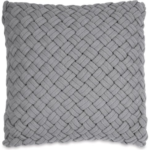 Dkny Chunky Knit Cushion 46cm X 46cm, Grey