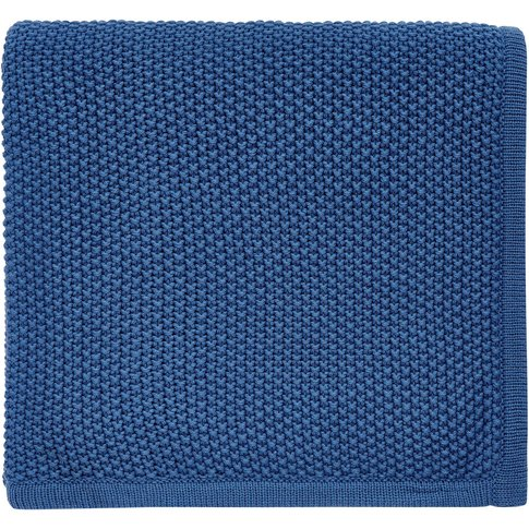 Helena Springfield Tilde Knitted Throw, Blue