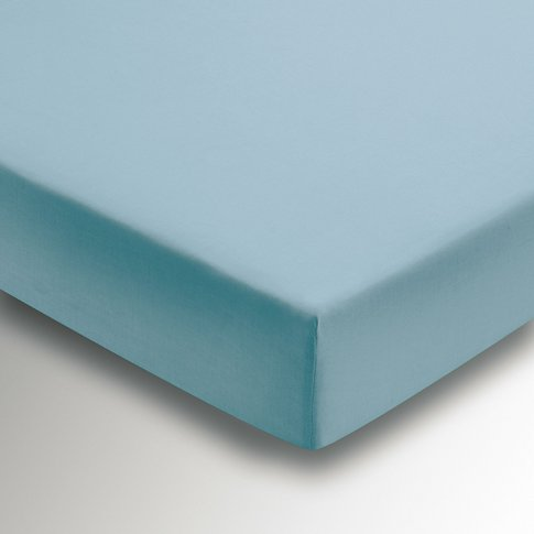 Helena Springfield Percale Single Fitted Sheet, Ocean