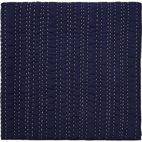 Joules Bircham Bloom Quilted Throw, Navy