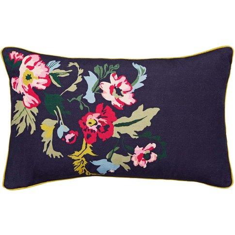 Joules Cambridge Garden Floral Cushion 30cm X 50cm, ...