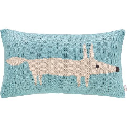 Scion Mr Fox Cushion - Lagoon