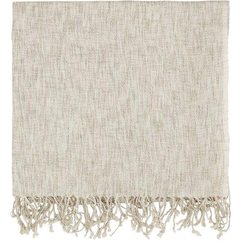 Murmur Grain Woven Throw, Linen