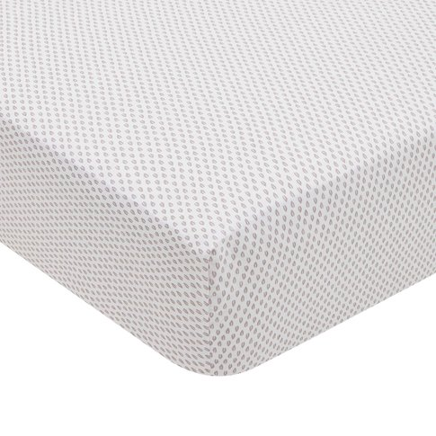 Murmur Rae Double Fitted Sheet, Heather