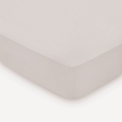 Peacock Blue Hotel 300 Thread Count Single Fitted Sheet, Cashmere