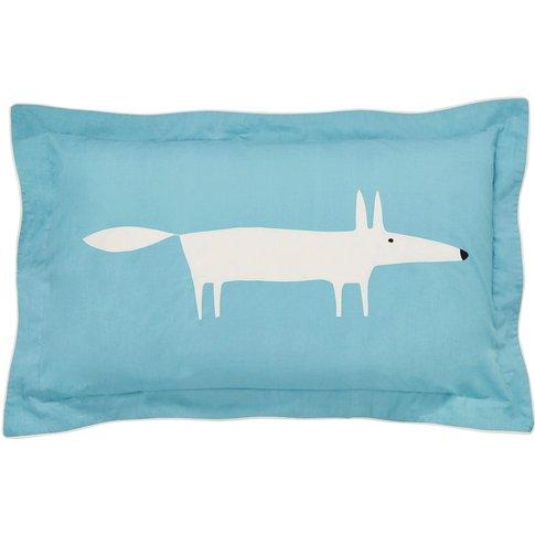 Scion Mr Fox Oxford Pillowcase, Teal