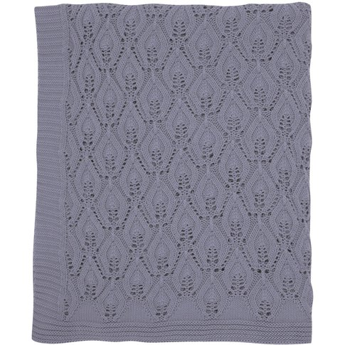 Sanderson Spring Flowers Knitted Throw, Blue