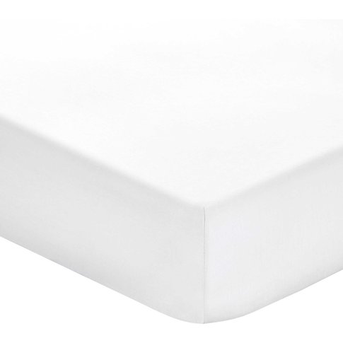 Bedeck 1951 Plain Dye Percale Fitted Sheets, White