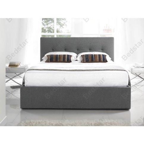 Kaydian Design Hexham 5ft Kingsize Fabric Bedframe,Grey