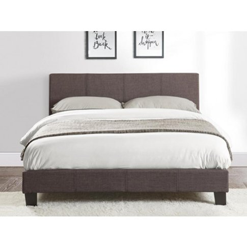 Birlea Berlin 4ft 6 Double Fabric Bedframe,Grey
