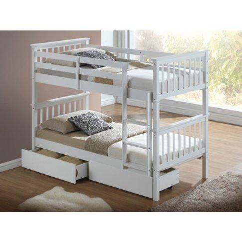 Artisan Hudson Wooden Bunk Bed,White