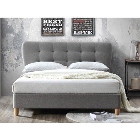 Birlea Stockholm 5ft Kingsize Fabric Bedframe,Grey