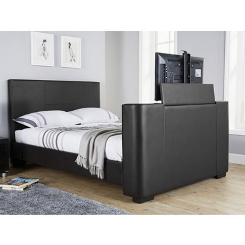 Milan Bed Company Newark Tv Bed,Black