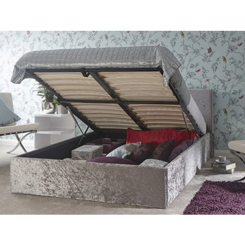 Milan Bed Company Lift 5ft Kingsize Ottoman Bed,Crus...