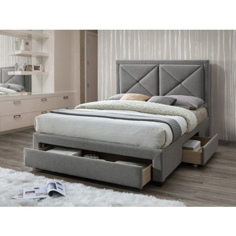 Limelight Beds Cezanne Fabric Bed,Grey