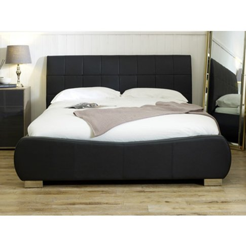 Limelight Dorado Leather Bed,Black