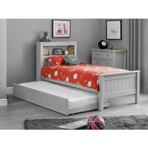 Julian Bowen Maine Bookcase Pull Out Guest Bed,Grey