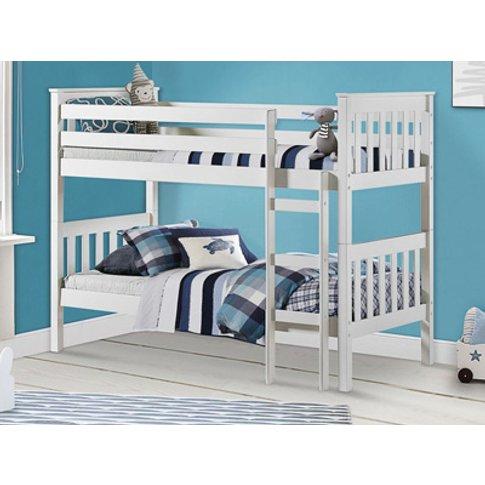 Birlea Portland White Bunk Bed,White