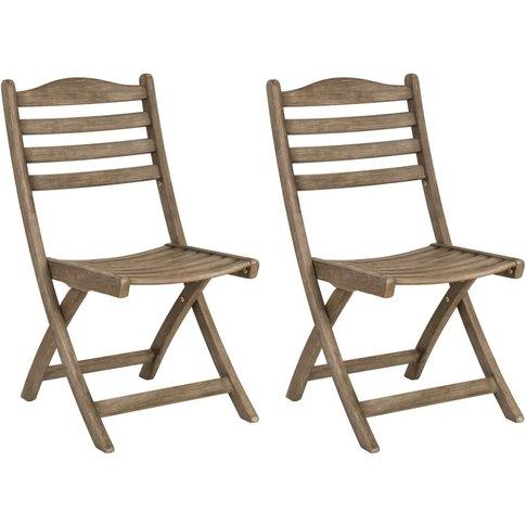 Alexander Rose Sherwood Folding Dining Chair (Pair)