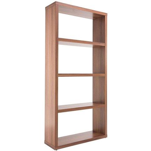Alphason Maine Walnut Wide Bookcase