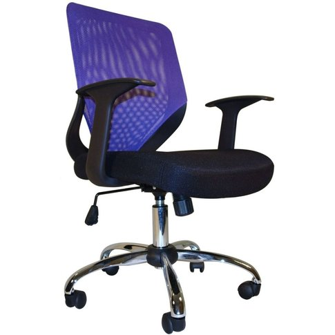 Alphason Atlanta Mesh Fabric Office Chair - Black an...
