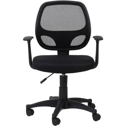 Alphason Davis Black Mesh Fabric Office Chair - Aoc9...