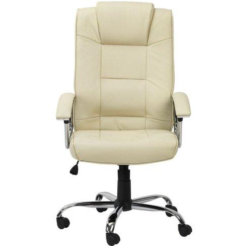 Alphason Houston Cream Leather Office Chair - Aoc420...