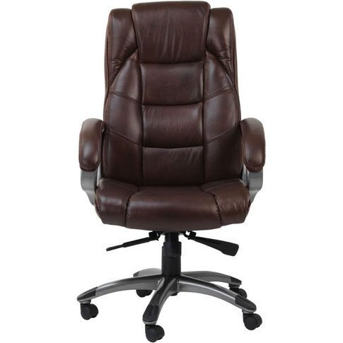 Alphason Northland Brown Leather Office Chair - Aoc6...