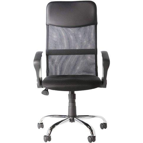 Alphason Orlando Black Mesh Fabric Office Chair - Ao...
