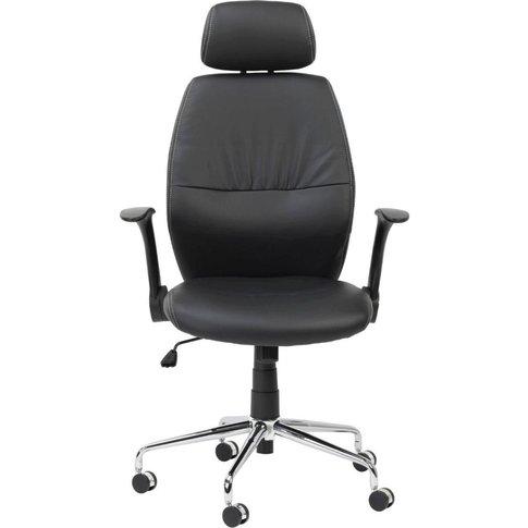 Alphason Parker Black Faux Leather Office Chair - AO...