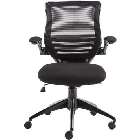 Alphason Stanford Black Mesh Fabric Office Chair - A...