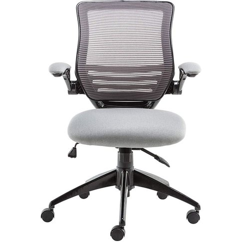 Alphason Stanford Grey Mesh Fabric Office Chair - Ao...