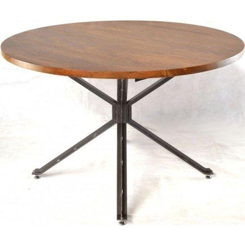 Ancient Mariner Brace Mango Wood Round Dining Table