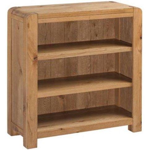 Capri Oak Low Bookcase