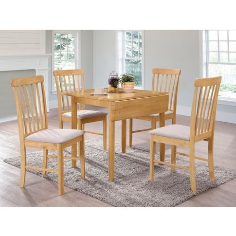 Cologne Light Oak Square Drop Leaf Dining Table And ...
