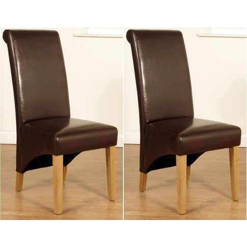 Rocco Brown Faux Leather Dining Chair (Pair)