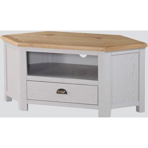 Kilmore Corner Tv Unit - Oak And Grey Painted